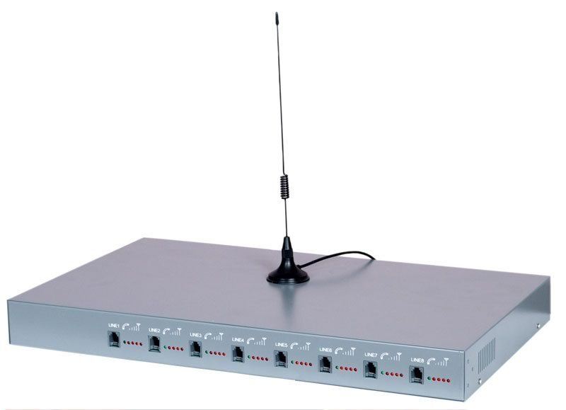 8 Channels 32 Sims GSM Fixed Wireless Terminal With Auto Imei Change&Quad Band (Etross-8888)