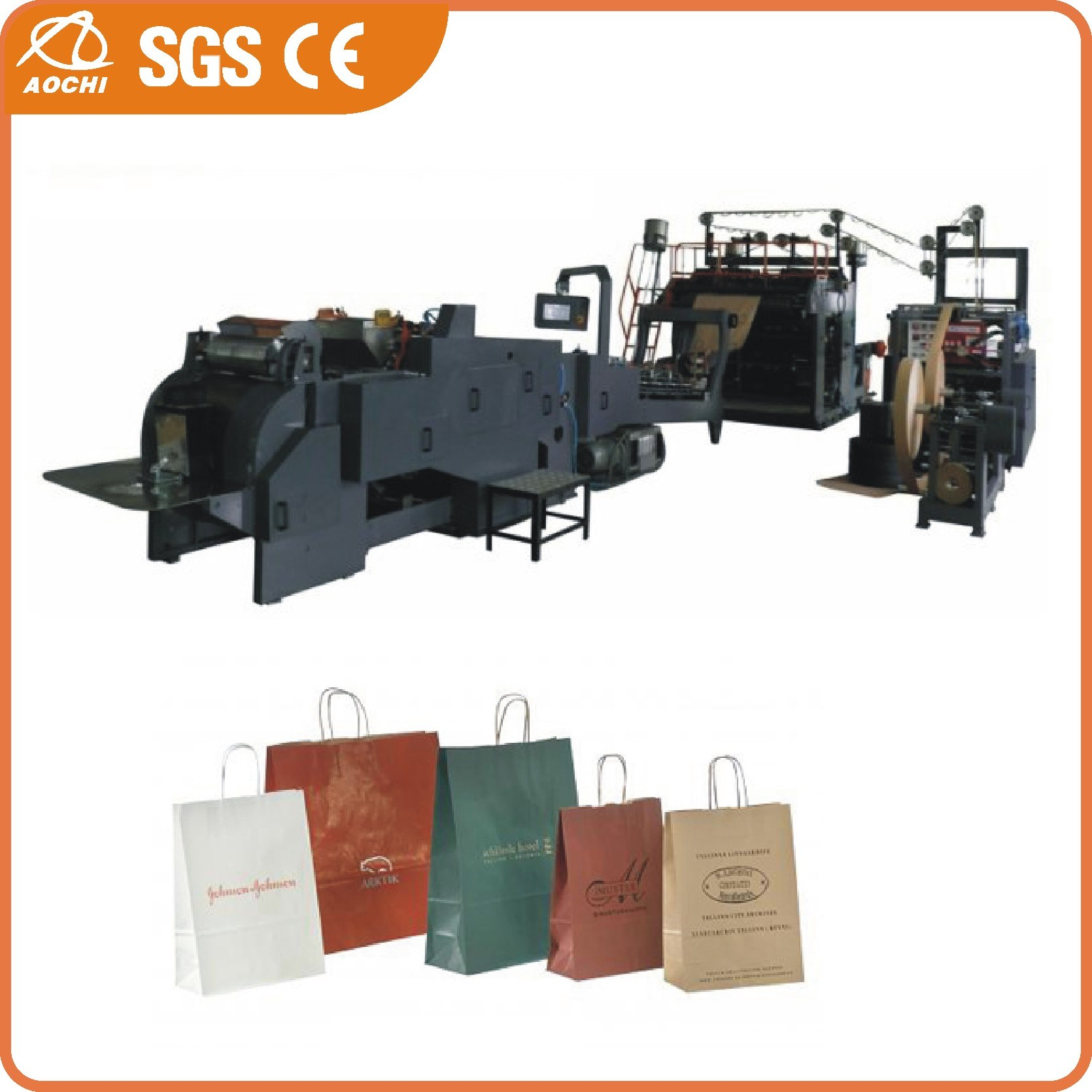 Roll Fed Fully Automatic Paper Bag with Machine (WFD430)