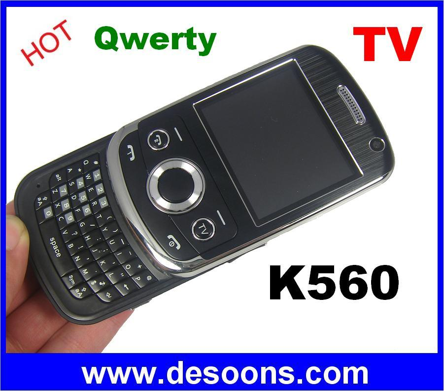 K560 JAVA TV Sliding QWERTY Mobile Phone Two Cards