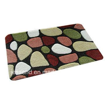 Comfortable Loop Pile Polyester Carpet Latex Backing Door Mat