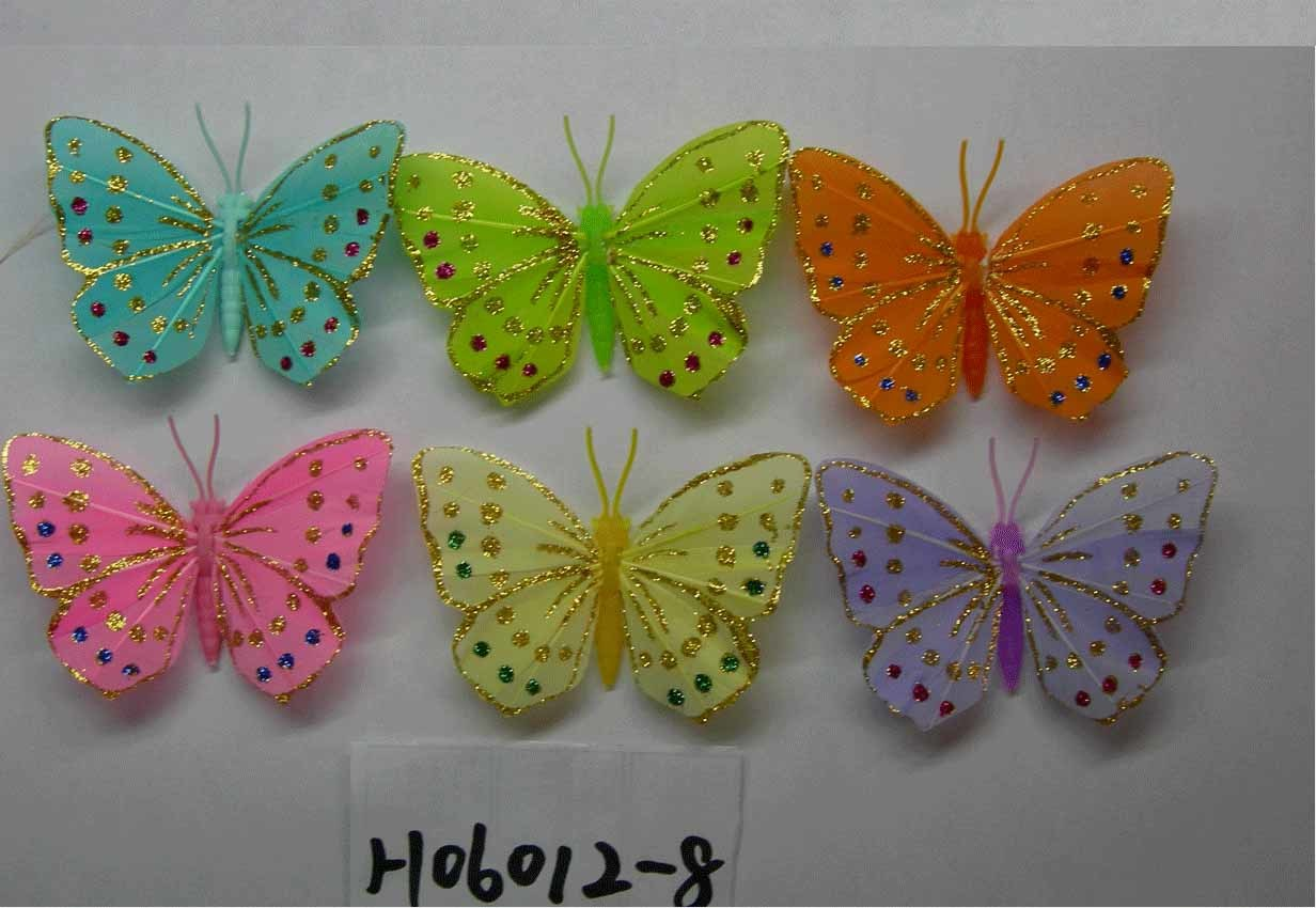 China artificial crafts artificial feather butterfly for Butterflies for crafts and decoration