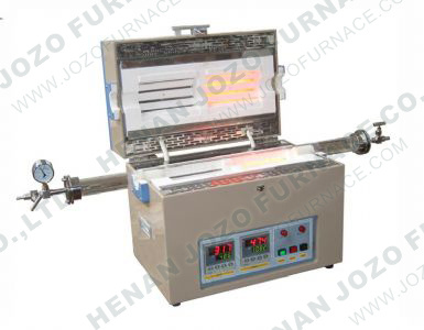 Dual Zone Split Tube Furnace with Vacuum Flanges & Quartz Tube