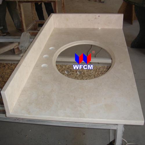 China crema marfil marble countertop china marble vanity top countertop for Crema marfil bathroom countertop