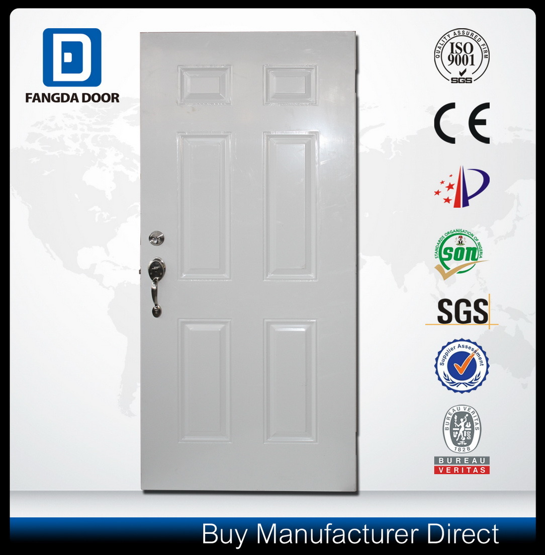 American Style Wood Edge Steel Entry Metal Security Door