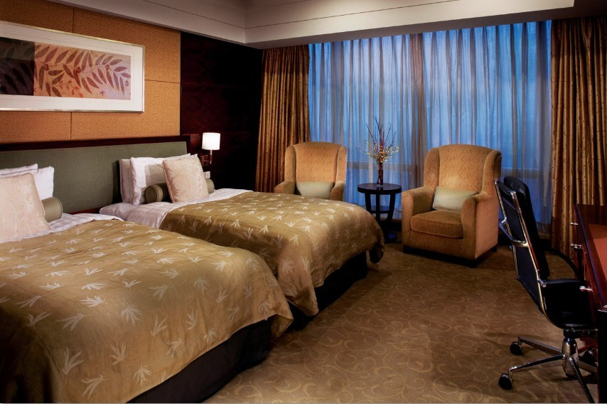China double standard bedroom furniture modern double bedroom furniture star hotel double guest for Hospitality bedroom furniture