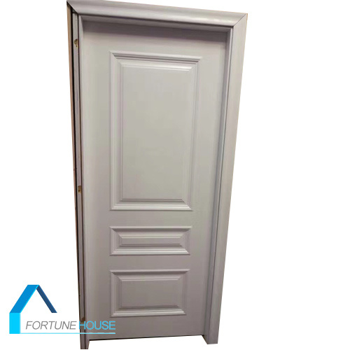 Cheap Polyurethane Foam Core Whithe Colour Wooden Molded Door