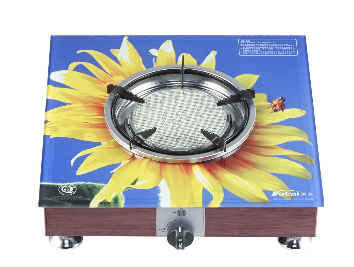 Ceramic Gas Grill with Bakeplate Table Top Jn2.8-Bkh15A