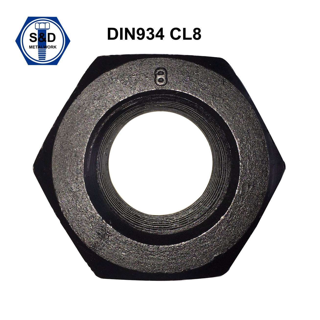 DIN934 Hex Nuts Class8 Black Finish