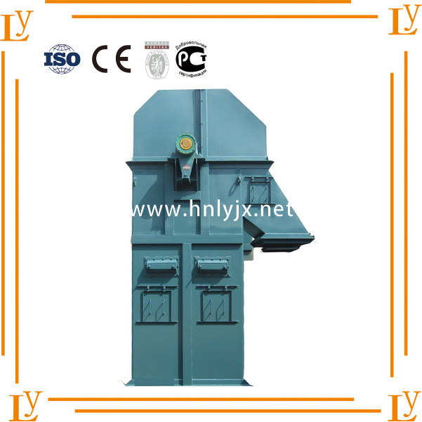 Bucket Elevator with Fire-Proof and Anti-Abrasive Rubber Pulley