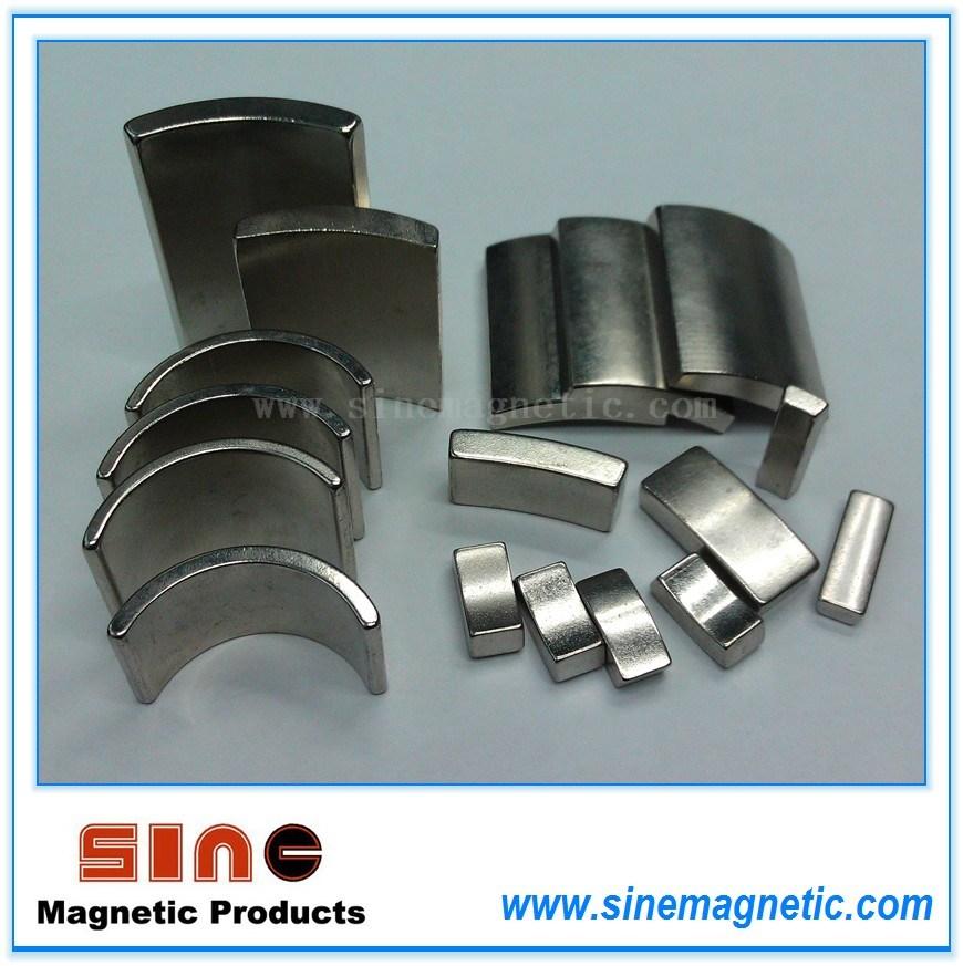 Strong Permanent Neodymium Motor Magnet (Arc Moto Magnet)