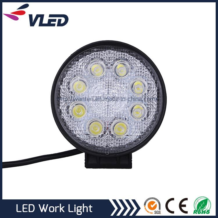 24W LED Work Light Flood Spot Beam for Car Offroad LED Driving Light