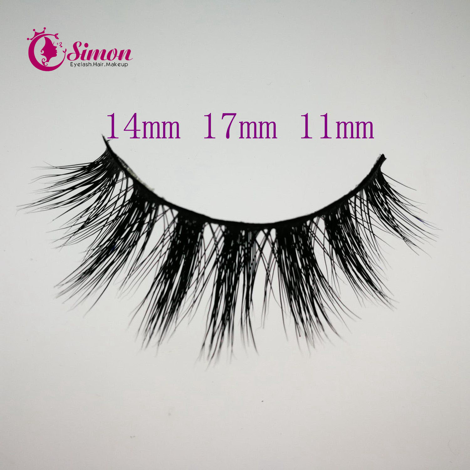 Mix Size Natural Looking Cosmetic False Eyelashes for Party Makeup
