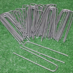 Steel Ground Cover Staples, Ground Cover Pegs, Ground Cloth Pins