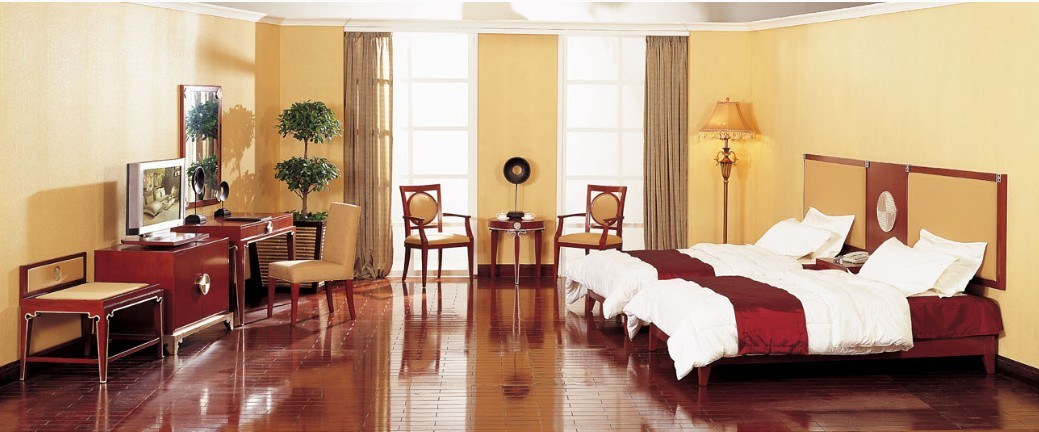 Hotel Double Room Suite, Hospitality Guest Room Furniture (GLB-001)