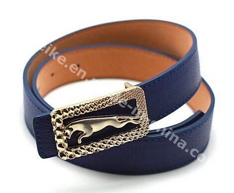Garment Accessory Ladies Dress Belts Jaguar Design Buckle