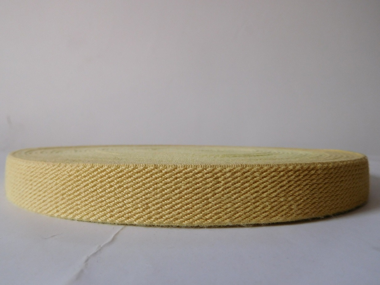 20mm Yellow Aramid Fiber Elastic Webbing for Fire Safety Garment Accessories