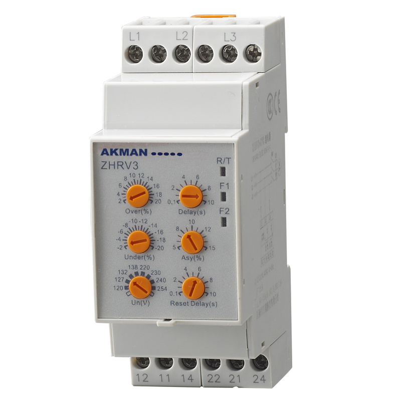 Three Phase AC Voltage Monitoring Relay With Multi Function (ZHRV3)