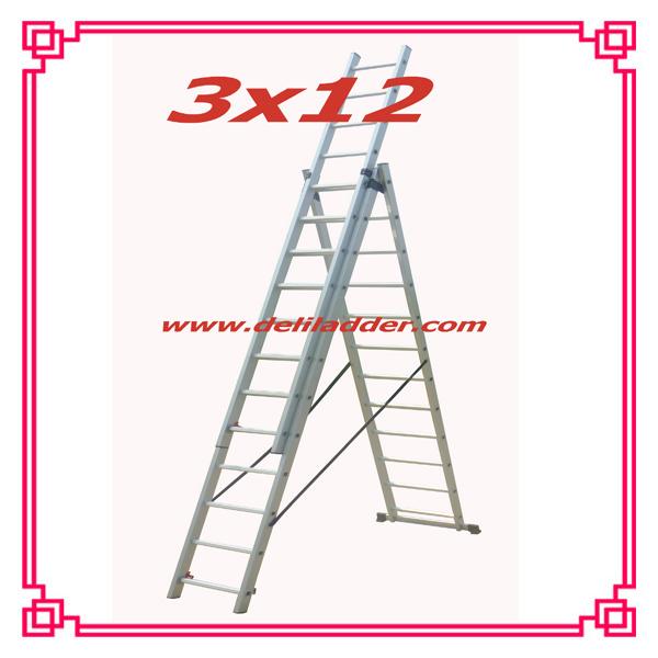 Aluminum Extension Ladder CE En131 Size: 3X6/3X7/3X8
