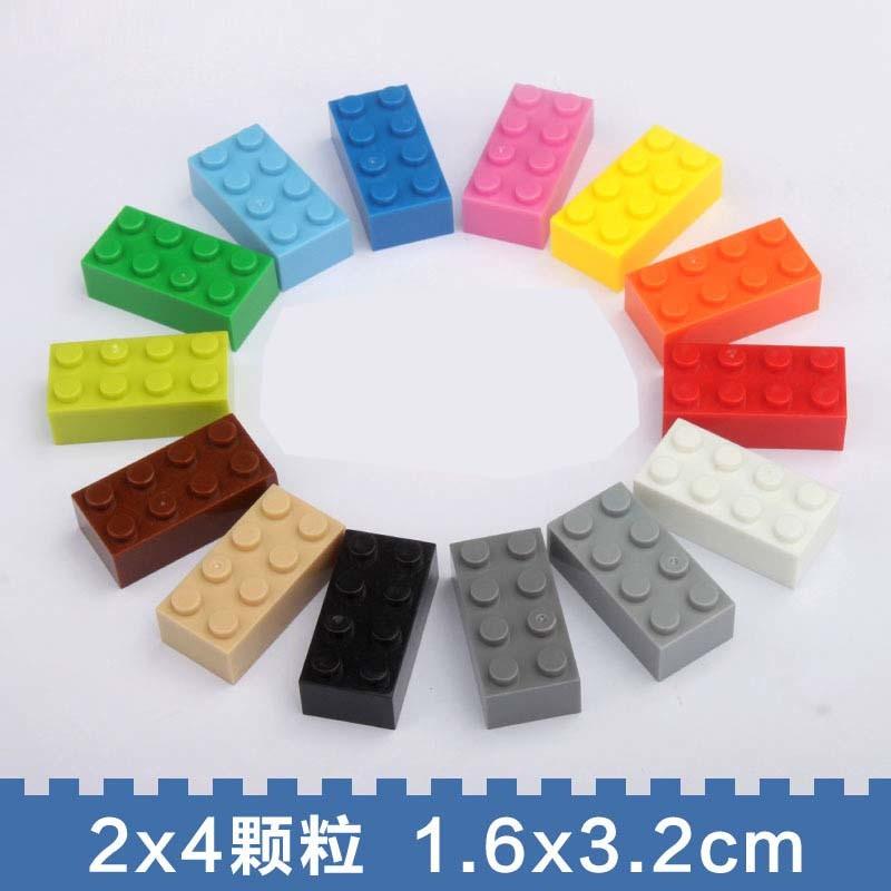 2X4 ABS Plastic Compatible Size Plastic Building Blocks Toys