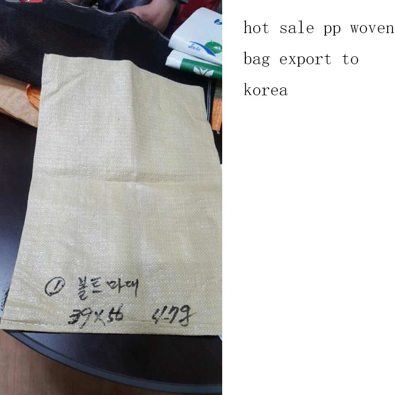 Grey PP Woven Bag Export to Korea
