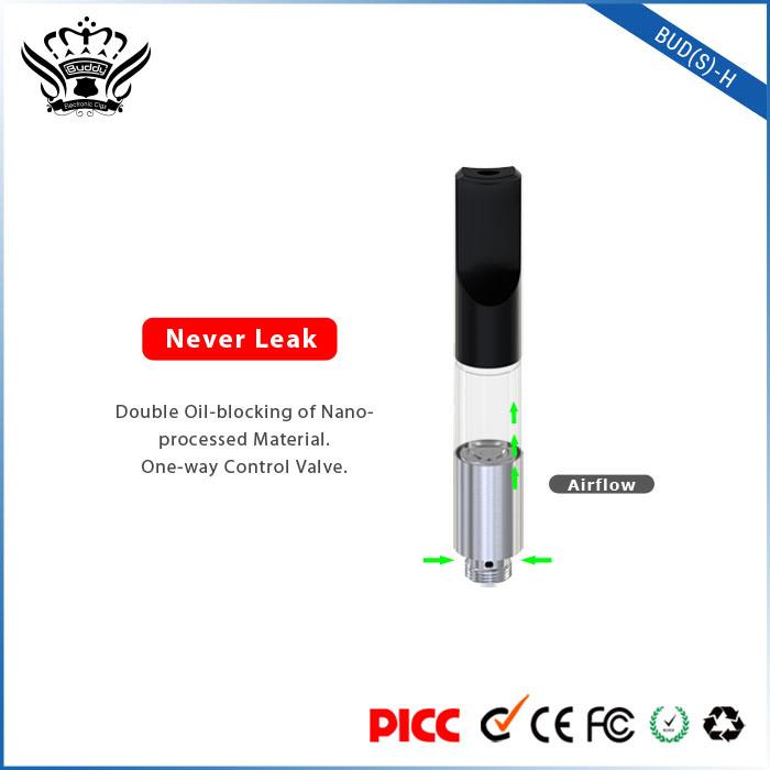 Bud (S) -H 0.5ml No Leakage Refillable Cartridge Cbd Oil Vape Pen Ejuice E Liquid