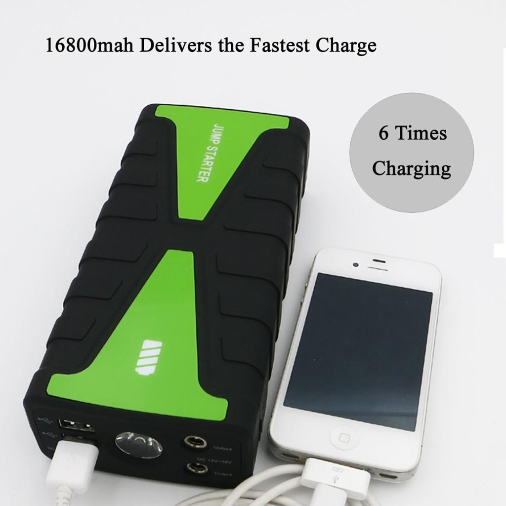 Multifunction Mini Power Bank Booster 12V 16800mAh Jump Start for Car