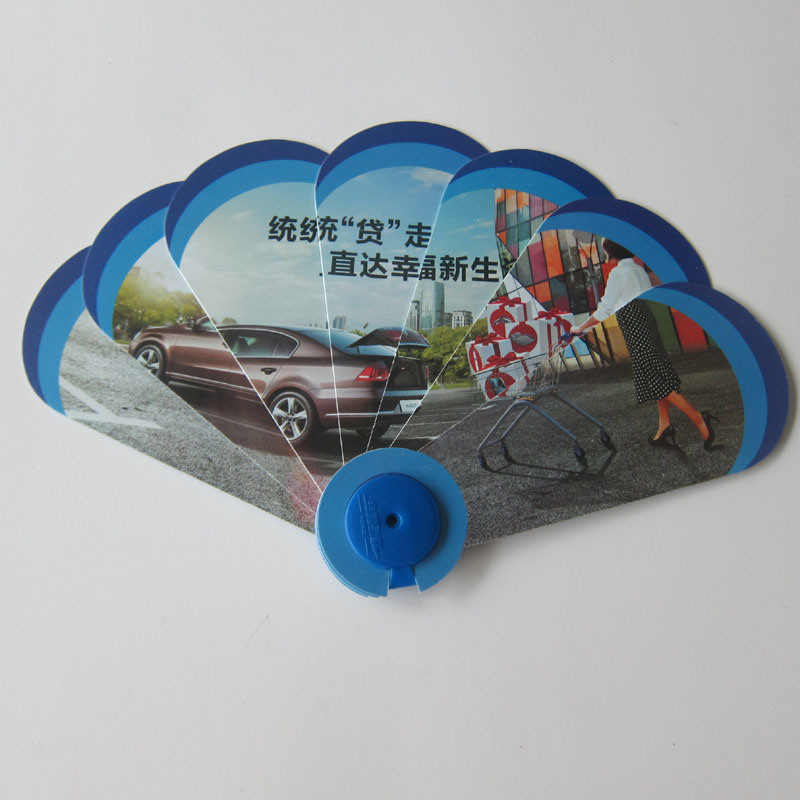 PP 3D Fan, Custom Advertising Plastic Foldable Hand Fan