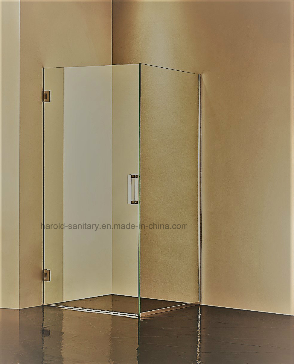 Na-07 Frameless Brass 90 Degree Hinge Open Shower Enclosure