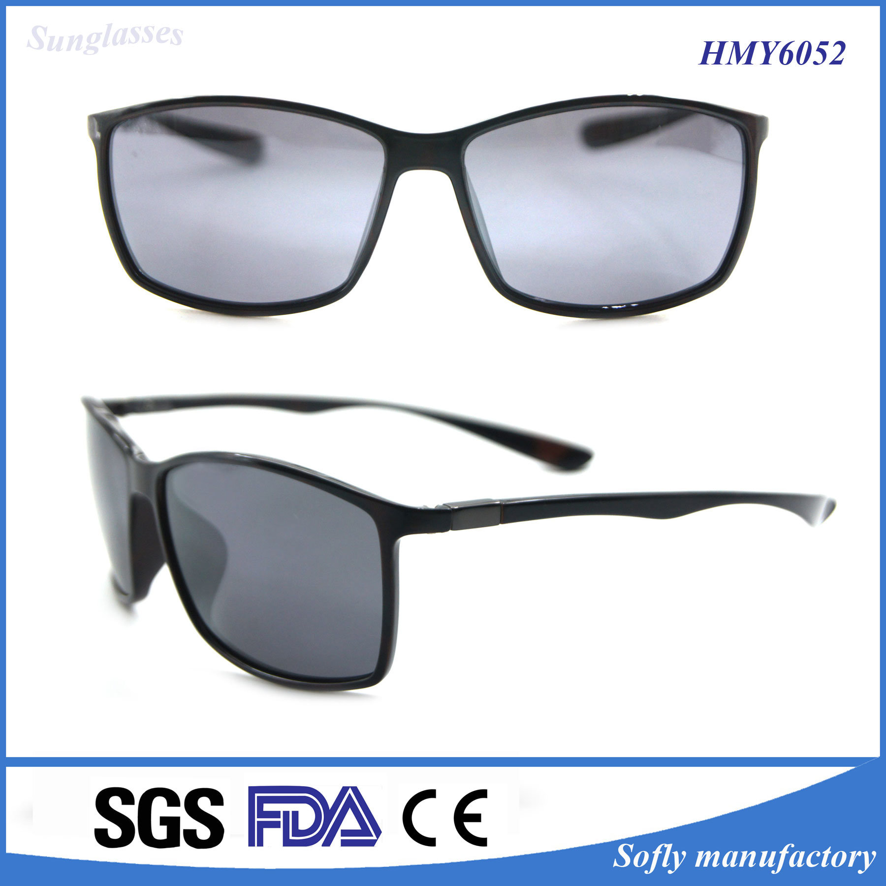 Hot Sell OEM Brand Designer Polarized Fashion Sunglasses for Man