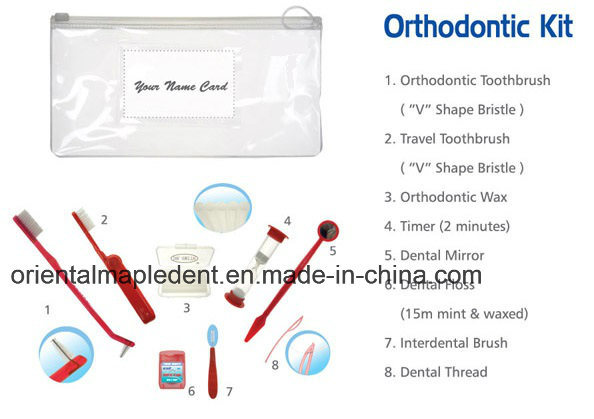 Dental Toothbrush Orthodotnic Kits with Wax