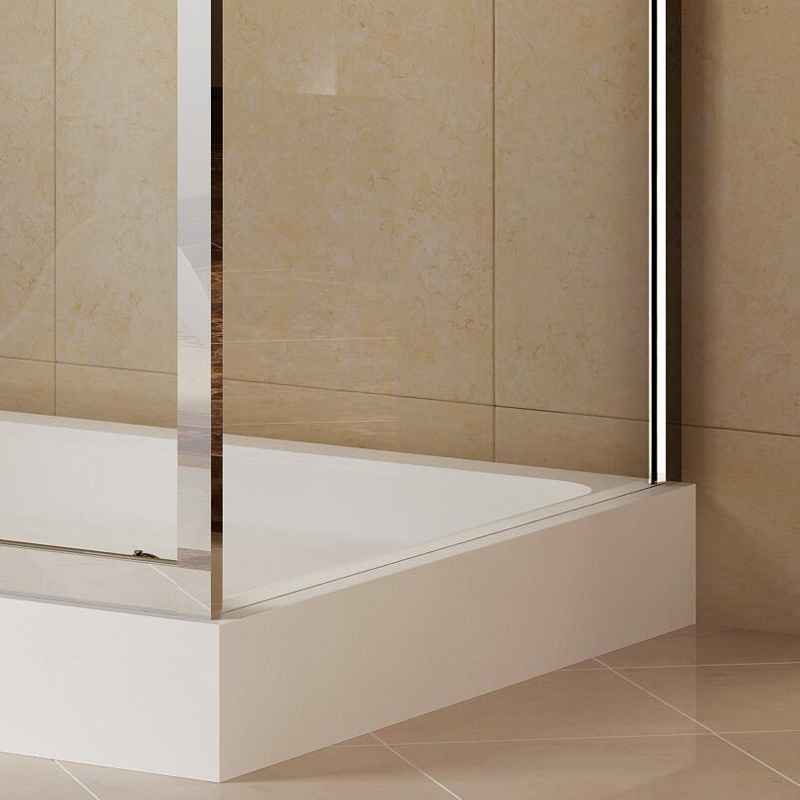 Aluminum Profiles Rectangle Corner Shower with Single-Side Tempered Glass (K-332)