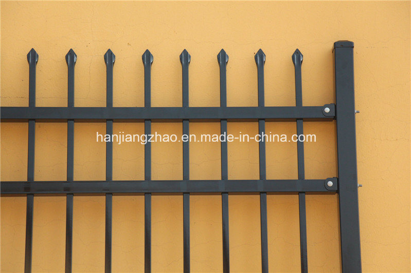 2.1m X2.4m Spear Top Security Steel Fence/ Steel Fencing