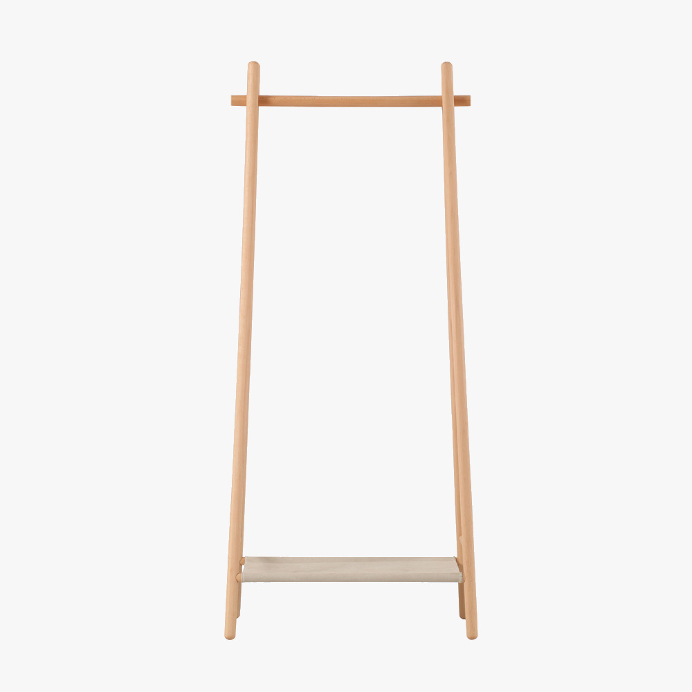 Cloth Beech Standing Hanger Wooden Coat Rack