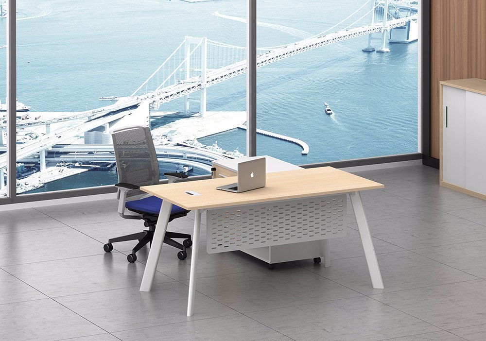 White Customized Metal Steel Office Staff Desk Frame with Ht79-1