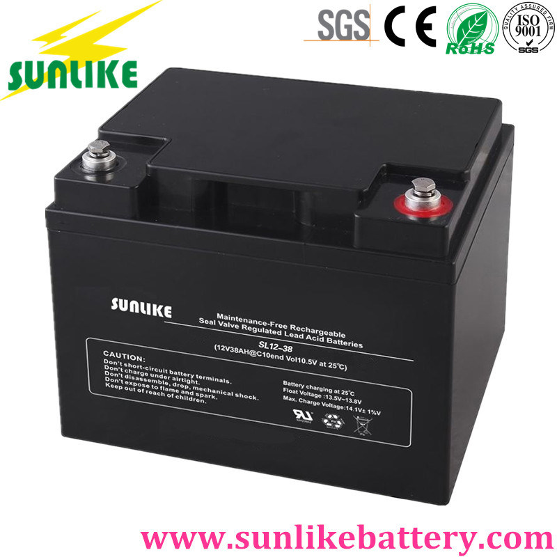 Solar Power SLA Deep Cycle UPS Battery 12V38ah for Telecom