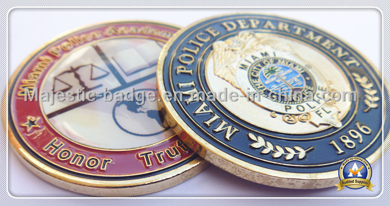 Brass Die Struck Plating Gold Challenge Coin
