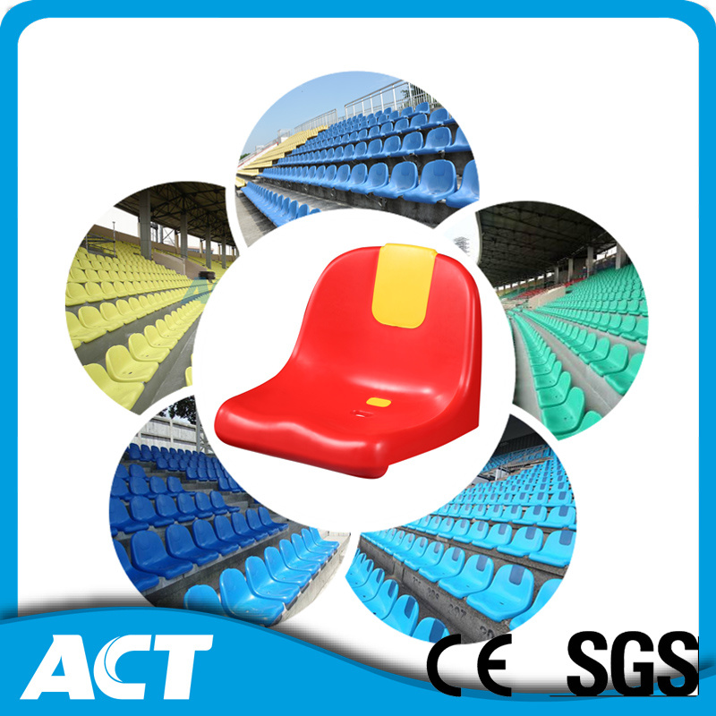Soccer Stadium Chair, Plastic Injection Molded Stadium Seat, Plastic Bucket Seat Stadium Seating for Stadium, Arena, School