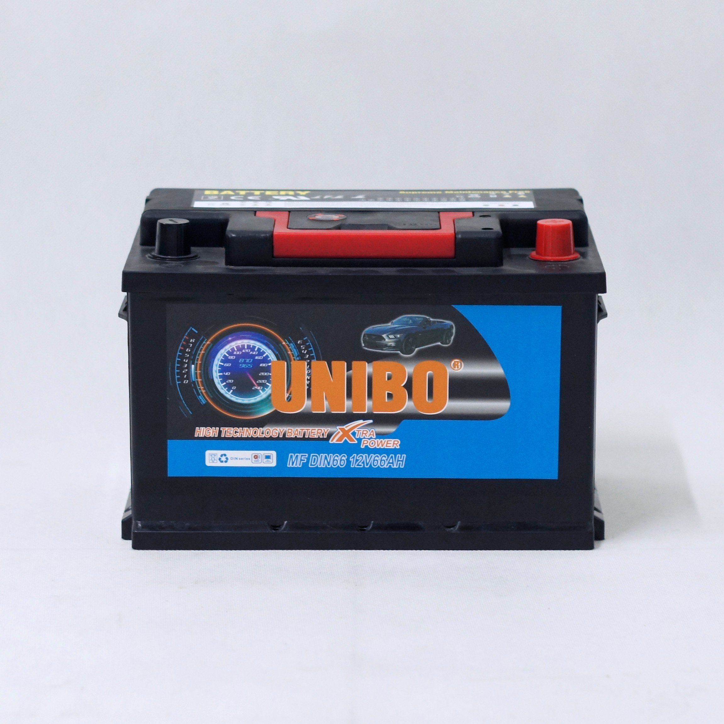 Maintenance Free Car Battery DIN66 12V66ah High Performance Auto Battery