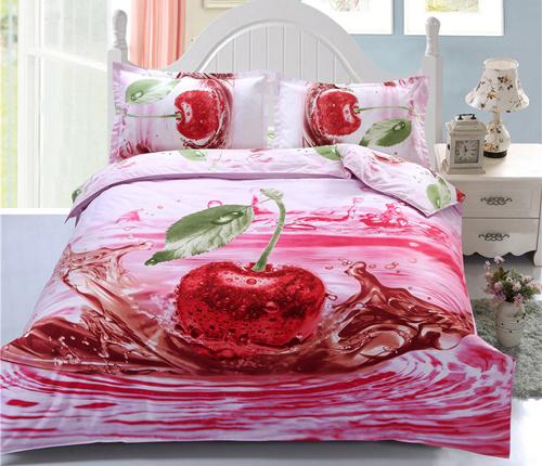 Polyester Fabric 3D Printed 4 Pieces Bedsheet/Bedding Sets/Microfiber Duvet