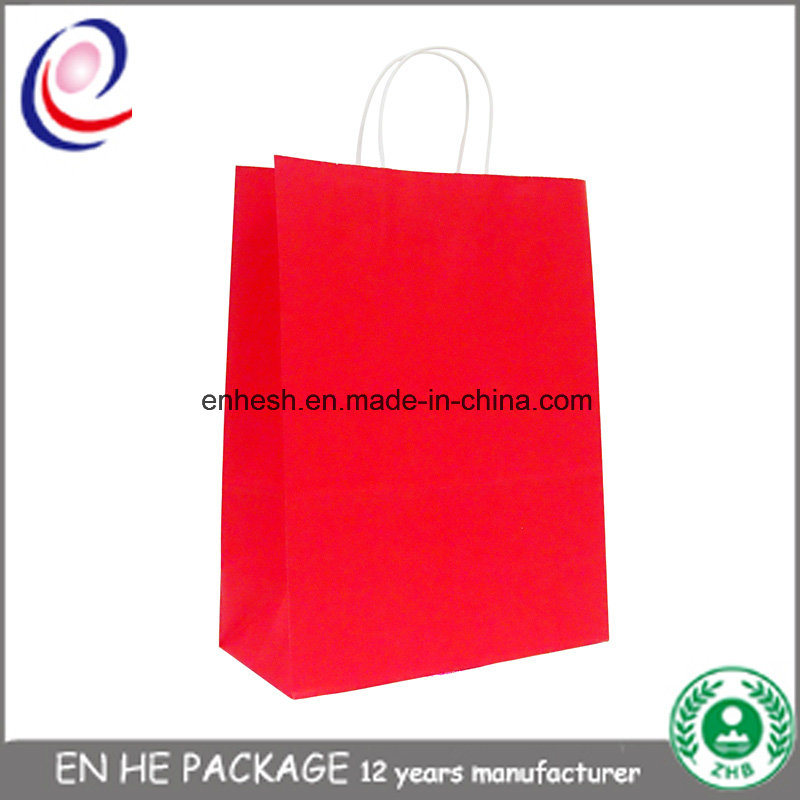 Wholesale Custom Printed Paper Printed Shopping Gift Bag with Paper Handle