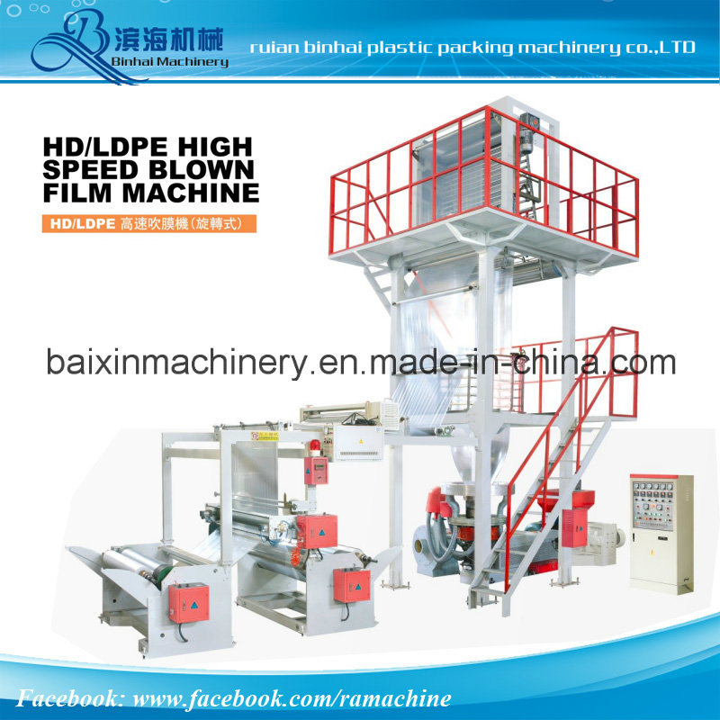 PE Shopping Bag Film Blowing Machine Rotary Head Auto Screen Changer
