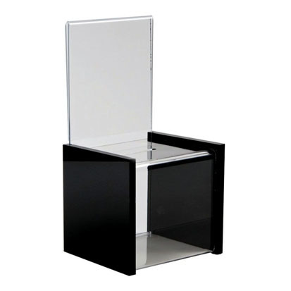 Customize PMMA Clear Acrylic Donation Box