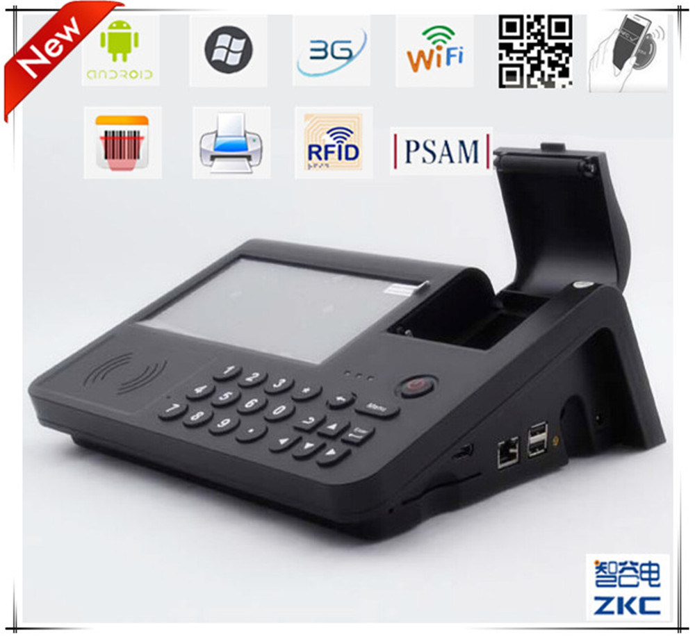 Zkc PC701 3G NFC RFID Android POS Terminal with Printer SIM Card
