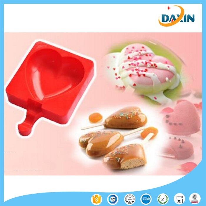 Heart Shape Food Grade Silicone Ice Cream Mould