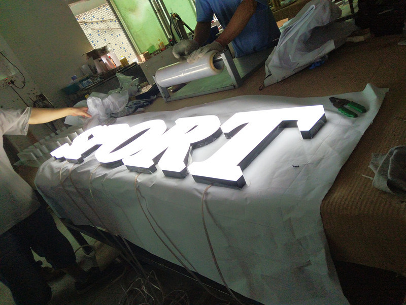 Shopping Mall Business Advertising Custom Logo LED Illuminated Neon Open Sign White Aluminum Acrylic Alphabet Plastic Channel Letters