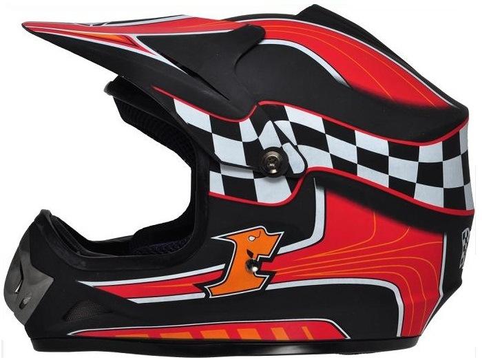 Motocross Fox Helmet with Full Face Shield Visor, Casco Moto. Road-Cross Helmet