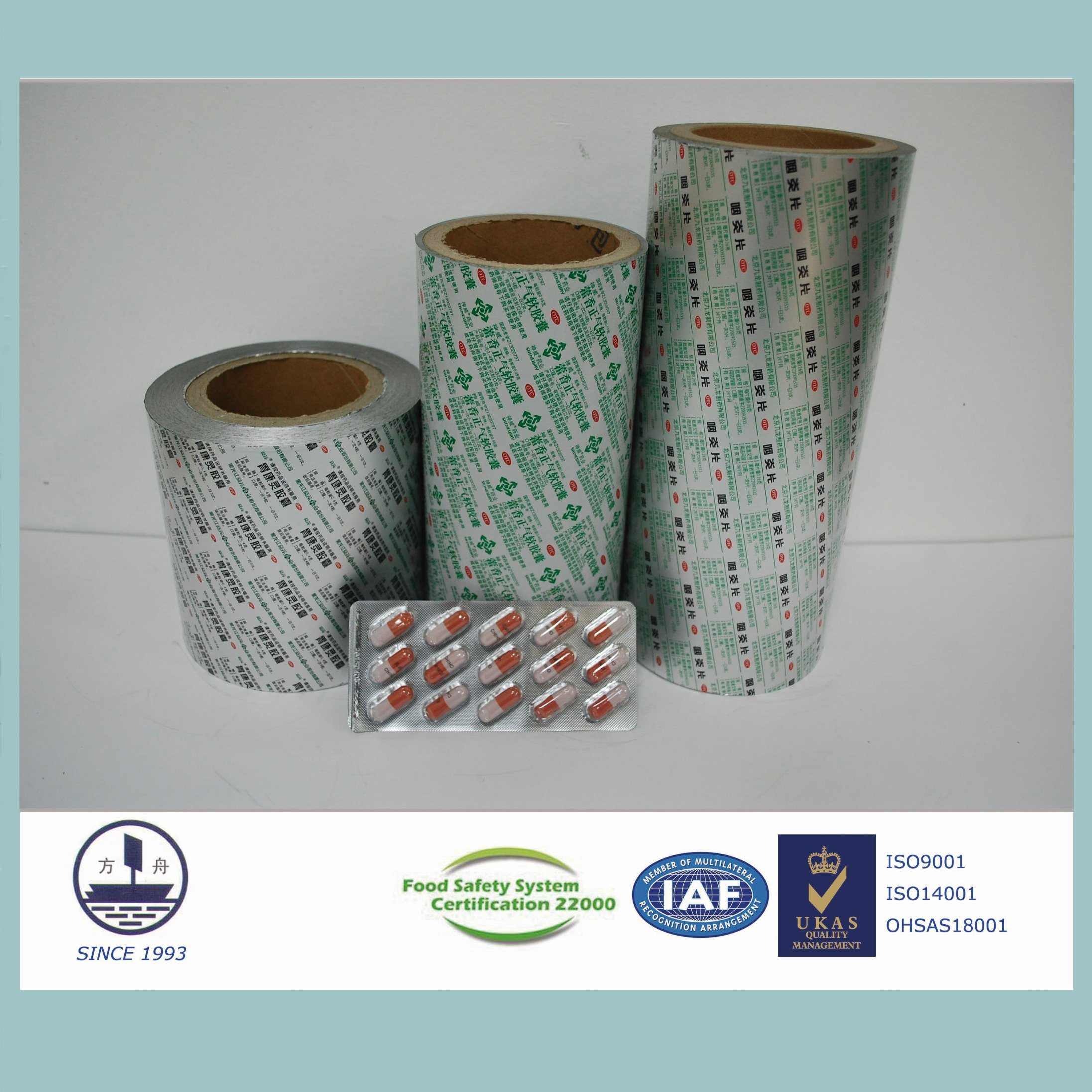 Pharmaceutical Packaging with Alloy 8011 H18 Ptp Aluminum Foil