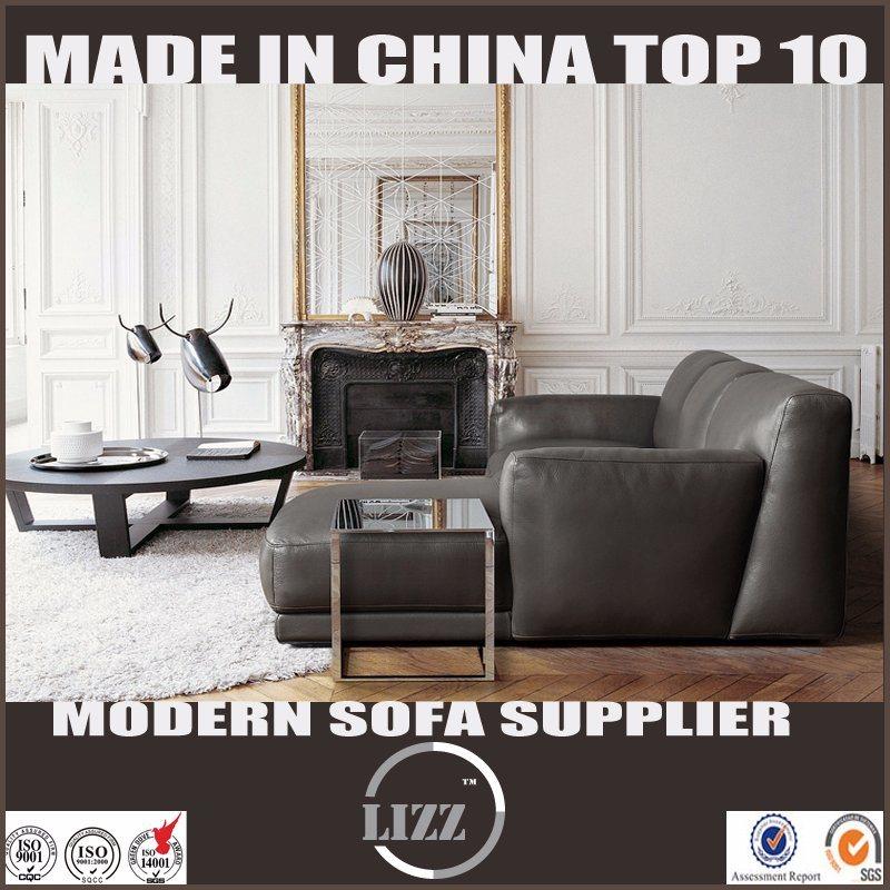 Popular Australia Modern Home Furniture Leather Feather Sofa Set