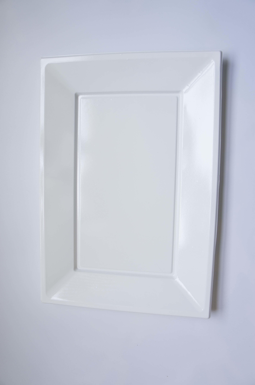 Clear Premium Plastic Disposable 6 Inch Square Cake Dessert Appetizer Party Event Wedding Plates