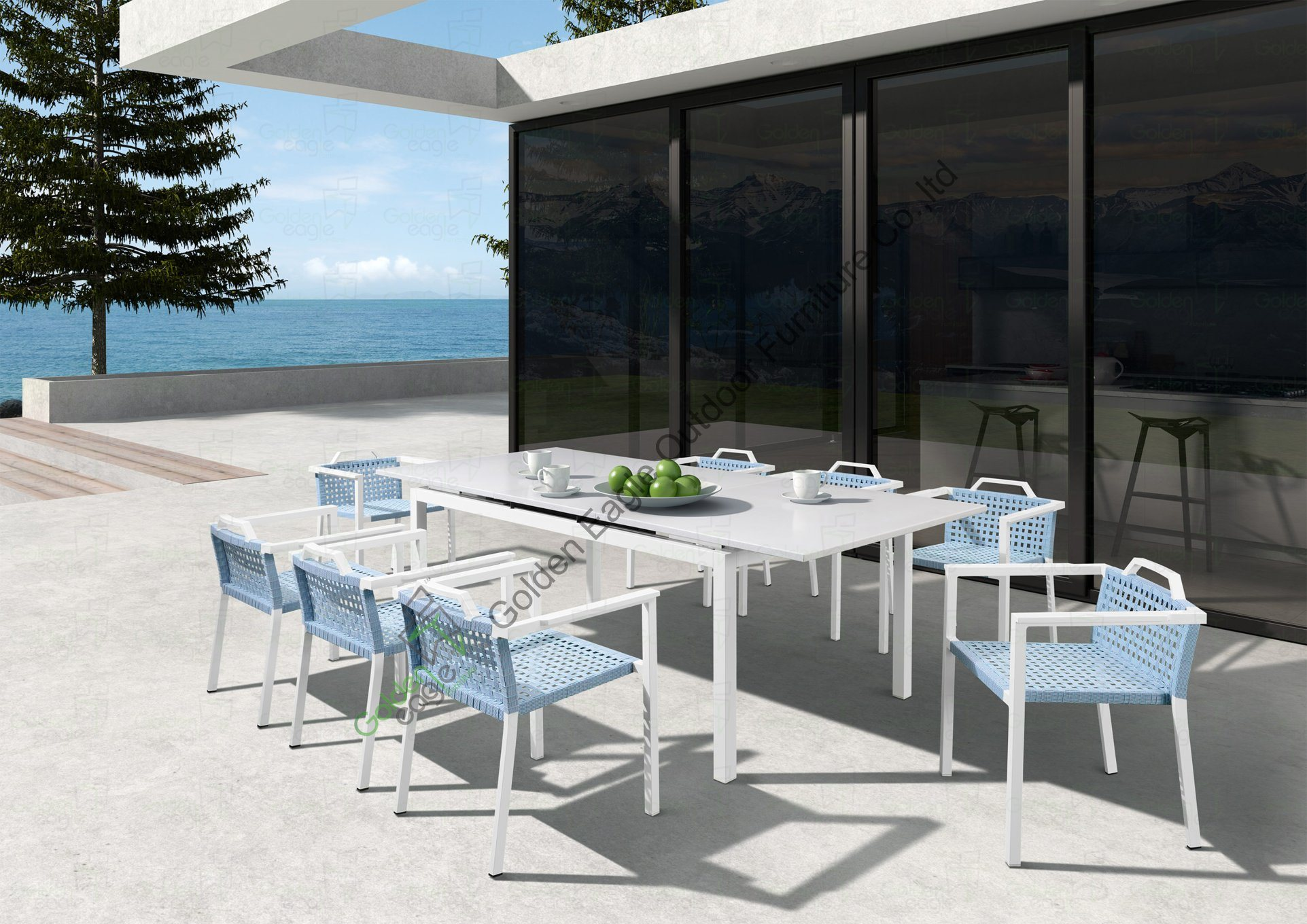 Powder Coat Metal Table and Chairs P-Fp0299